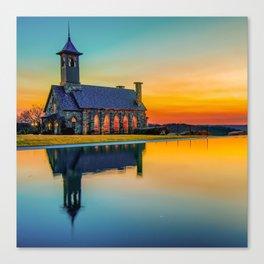 Chapel Reflections - Top of the Rock - Ridgedale Missouri Canvas Print