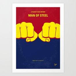 No447 My Men of steel minimal movie poster Art Print