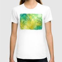 lime green T-shirts featuring Watercolor Lime by MadC Productions