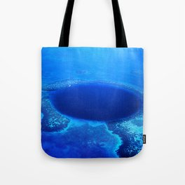 Great Blue Hole Aerial Photo, Belize Tote Bag