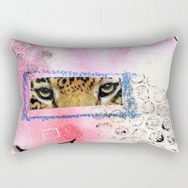 leopard eyes collage Rectangular Pillow