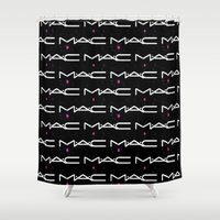 mac Shower Curtains featuring MAC by I Love Decor