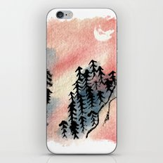 Wildly - an abstract mountain scene with watercolor and ink iPhone & iPod Skin