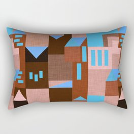 Brown Klee houses Rectangular Pillow