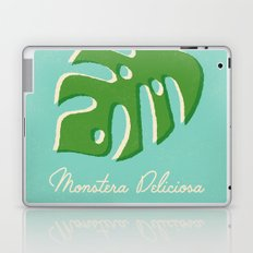 Monstera Aqua Laptop & iPad Skin