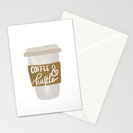 Coffee & Hustle to go Stationery Cards