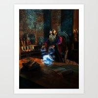 wizard Art Prints featuring Wizard by Digital Dreams