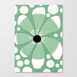 FLOWERY  TRINI  / ORIGINAL DANISH DESIGN bykazandholly Canvas Print