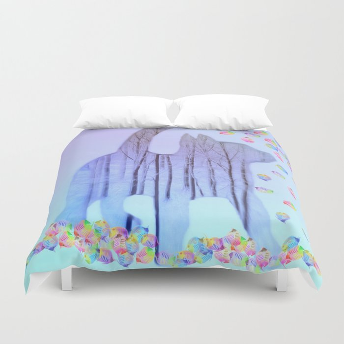 Cat Dreams Duvet Cover