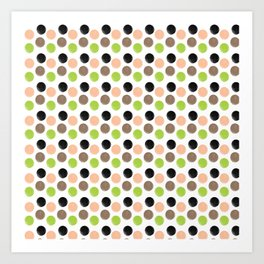 Peach And Pear Polkadots Art Print
