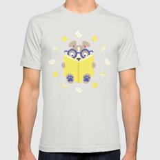 Curiosity Time Mens Fitted Tee SMALL Silver