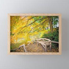 Autumn Bench Meadow Framed Mini Art Print