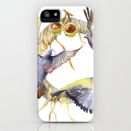Autumn in the city Pigeon Wreath iPhone Case