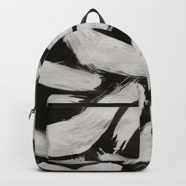 Worms, Abstract, White & Black Backpack