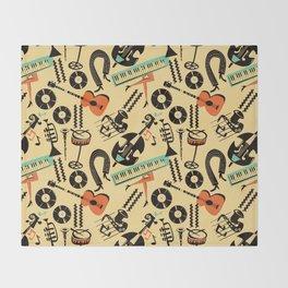 Jazz Rhythm (positive) Throw Blanket