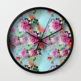 Smell the Roses Wall Clock