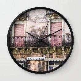 SICILIAN FACADE Wall Clock
