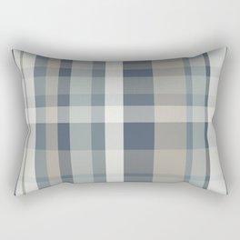 Retro Modern Plaid Pattern 2 in Neutral Blue Gray Taupe Rectangular Pillow