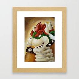King Koopa Framed Art Print
