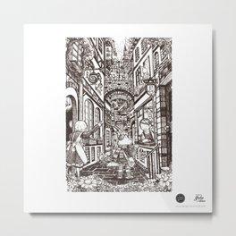 Town Motto Metal Print
