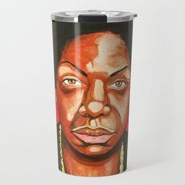 """Nina Simone """"Revolutionary"""" Travel Mug"""