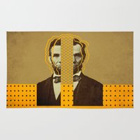 lincoln Area & Throw Rugs featuring AbracadAbraham - Lincoln by AmDuf
