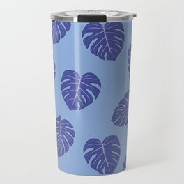 Monstera trendy - purple Travel Mug