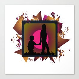 Messy family Canvas Print
