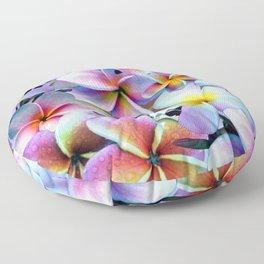 Rainbow Plumeria Floor Pillow