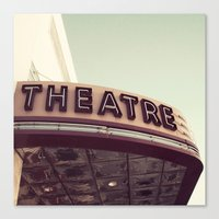 theatre Canvas Prints featuring Theatre by bellehibou