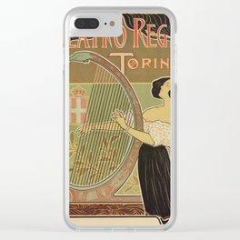Art nouveau Royal Opera House Turin Torino Clear iPhone Case