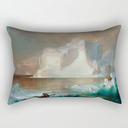 "Frederic Church ""The Icebergs"" Rectangular Pillow"