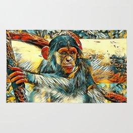 AnimalArt_Chimpanzee_20170905_by_JAMColorsSpecial Rug