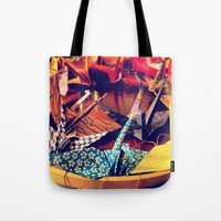 crane Tote Bags featuring Crane  by Francessca.n.Angel