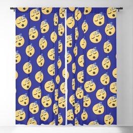 Sleepy emoticon pattern Blackout Curtain