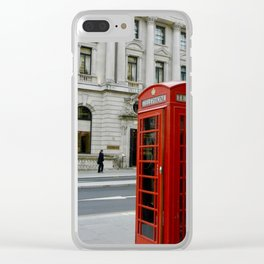 Telephone Booth Clear iPhone Case