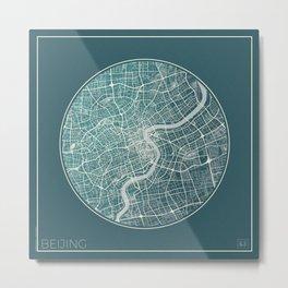 Beijing Map Planet Metal Print