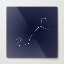 Scorpio Star Sign Deep Blue Metal Print