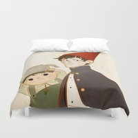 greg guillemin Duvet Covers featuring Greg & Wirt by Ferkashi