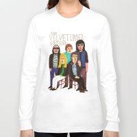 velvet underground Long Sleeve T-shirts featuring The Velvet Underground by Angela Dalinger