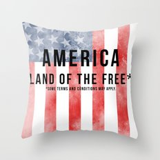 America: Land of the Free*  Throw Pillow