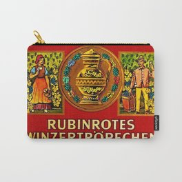 Vintage 1963 Wine Bottle Label Rubinrotes Winzertropfchen Carry-All Pouch