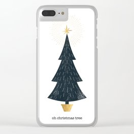 Christmas Tree Print Clear iPhone Case