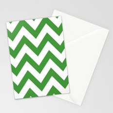 MEAN GREEN CHEVRON Stationery Cards