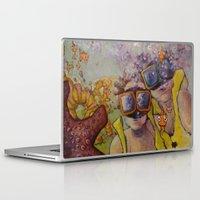 scuba Laptop & iPad Skins featuring scuba dooba doo by jennaleemeyer