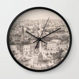 Vintage Pictorial Map of Savannah Georgia (1856) Wall Clock