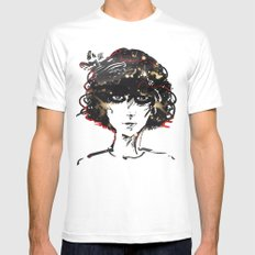Girl Mens Fitted Tee MEDIUM White
