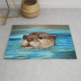 River Otter Painting Rug