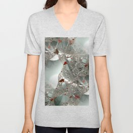 Tangled in the fractal mist Unisex V-Neck
