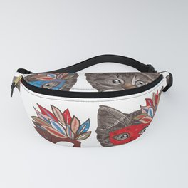 Mask and Cute Lovely Cat Pattern Fanny Pack